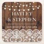 """Coasters Wood Lace Lights Rustic Wedding Party<br><div class=""""desc"""">Coasters Wedding Party - See the matching collection in my store Wow Wow Meow</div>"""