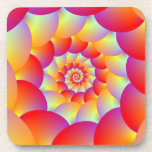 Coasters x 6  Ball Spiral in Red Yellow and Orange