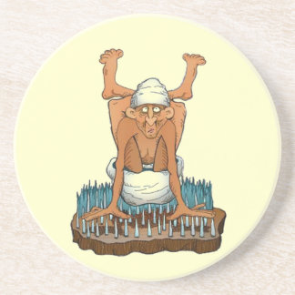 Coasters Yogi on Bed on Nails Yoga fun gifts gift