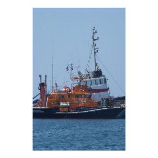 Coastguard Boat And Tug Boat Personalised Stationery