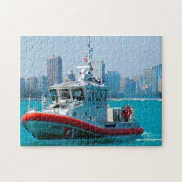 USA Themed Coastguard Boat. Jigsaw Puzzle