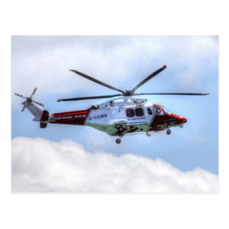 Coastguard Helicopter Postcard
