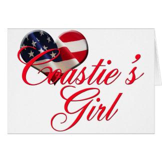 coastie's girl greeting card