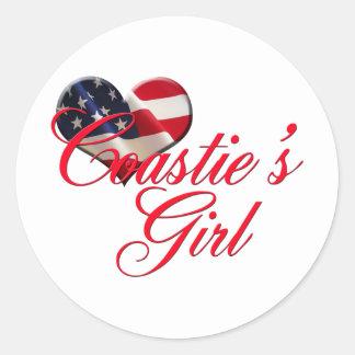 coastie's girl round sticker