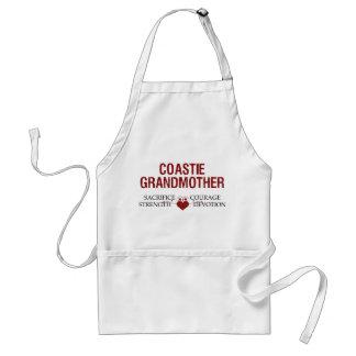 Coastie Grandmother Sacrifice, Strength, Courage Adult Apron