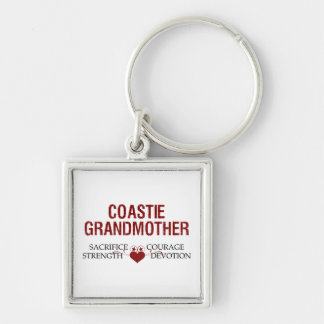 Coastie Grandmother Sacrifice, Strength, Courage Keychain