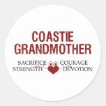 Coastie Grandmother Sacrifice, Strength, Courage Round Sticker