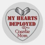 Coastie Mom, My Hearts Deployed Sticker