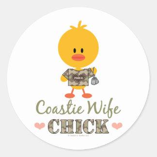 Coastie Wife Chick Stickers