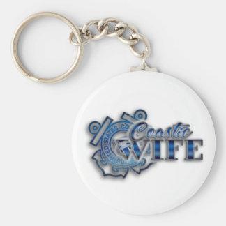 Coastie Wife Basic Round Button Keychain