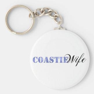 Coastie Wife Keychain