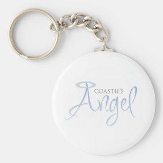 Coastie's Angel Basic Round Button Keychain