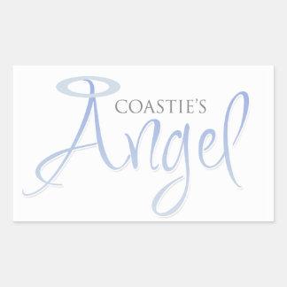Coastie's Angel Rectangular Sticker