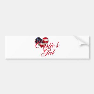 coastie's girl car bumper sticker