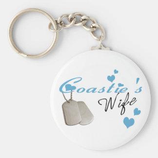 Coastie's Wife Keychain