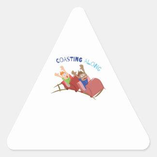 Coasting Along Triangle Sticker