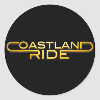 Coastland Ride - name logo Classic Round Sticker