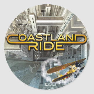 Coastland Ride - On Top Of The World CD cover Classic Round Sticker