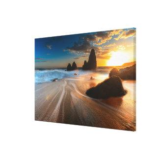 Coastline At Sunset | Northern California Canvas Print