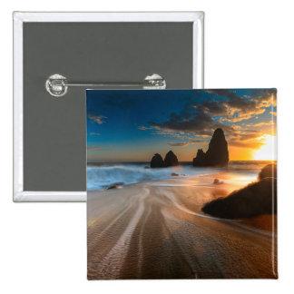Coastline At Sunset | Northern California Pinback Button