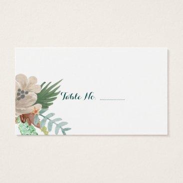 Beach Themed Coastline Blank Wedding Place Cards 100 pk