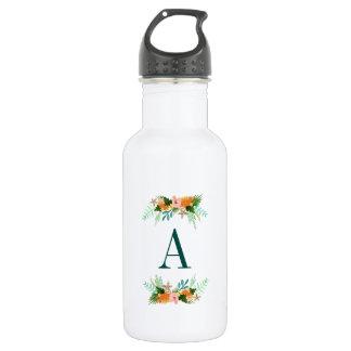 Coastline Floral Stainless Steel Water Bottle