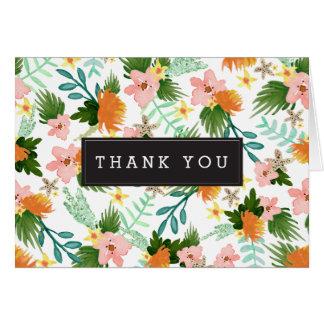 Coastline Floral Thank You Card