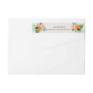 Coastline Floral Wrap Around Label