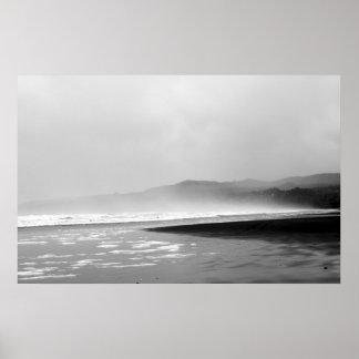 Coastline Fog2 Poster