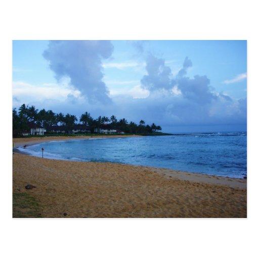 coastline in kauai-poipu beach postcard