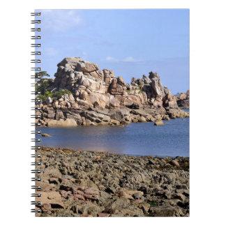 Coastline of Ploumanac'h in France Notebook