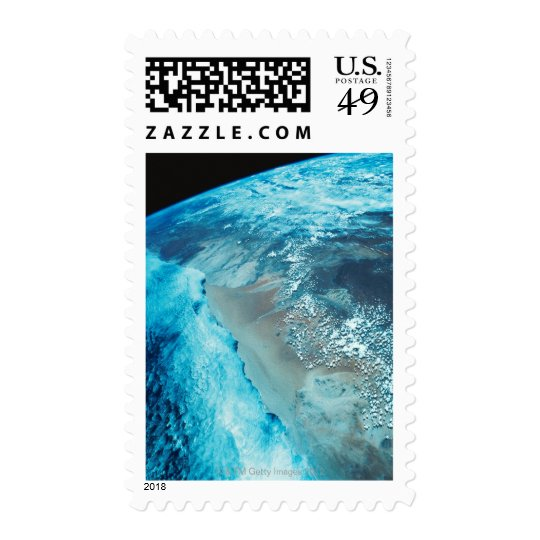 Coastline on Earth Postage