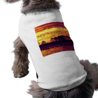 Coastline Sunset, Birds Shirt