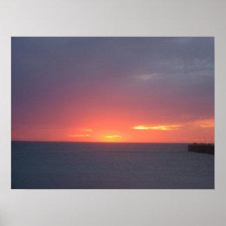 Coastline Sunset Posters
