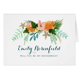 Coastline Wedding Party Card at Zazzle