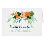 Coastline Wedding Party Card Greeting Card