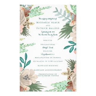 Coastline Wedding Programs