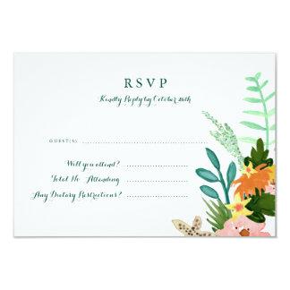 Coastline Wedding RSVP Card