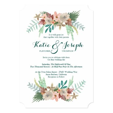 Beach Themed Coastline Winter Wedding Card