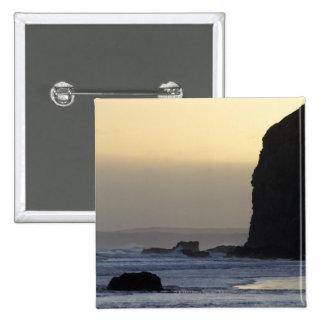 coastline with stormy seas button