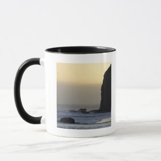 coastline with stormy seas mug