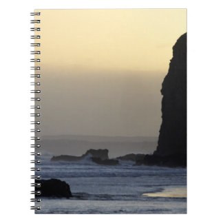 coastline with stormy seas notebook