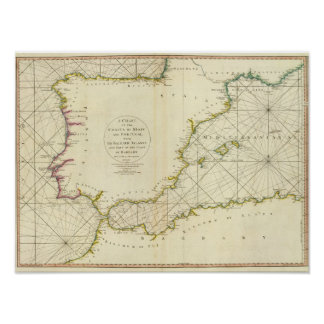 Coasts Spain, Portugal, Barbary Poster