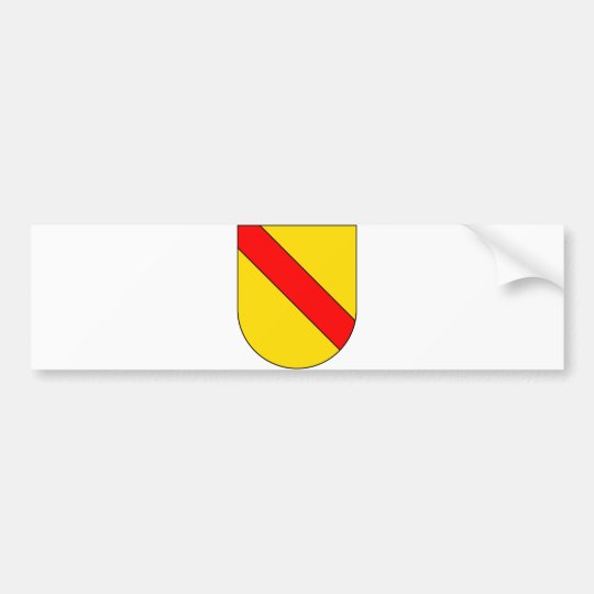 Coat Arms Baden Germany Official Symbol Heraldry Bumper Sticker
