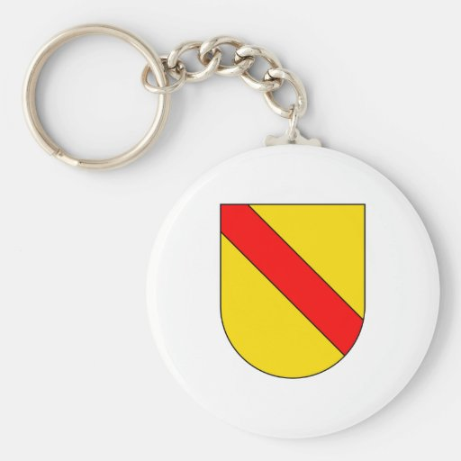 Coat Arms Baden Germany Official Symbol Heraldry Basic Round Button Keychain