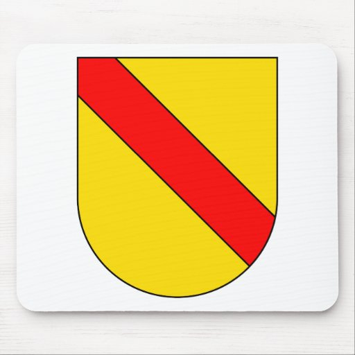 Coat Arms Baden Germany Official Symbol Heraldry Mouse Pad