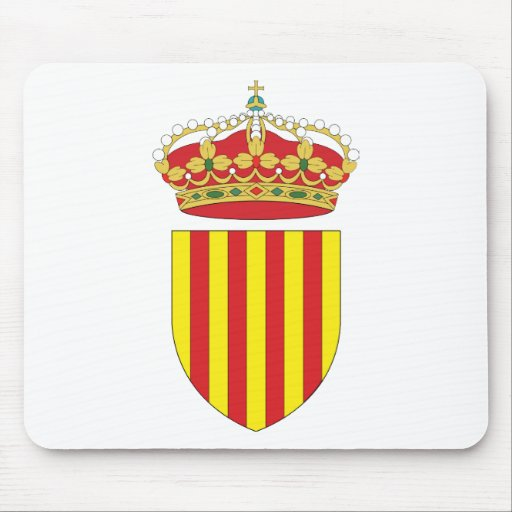 Coat Arms Cataluña Official Spain heraldry Symbol Mouse Pad