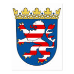 Coat arms Hesse Official Heraldry Symbol Germany Postcard