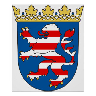 Coat arms Hesse Official Heraldry Symbol Germany Print