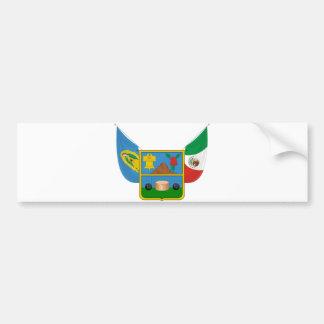 Coat Arms Hidalgo Offical Mexico Heraldry Symbol Bumper Sticker